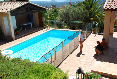 The pool at the house in Fayence
